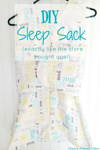 DIY Baby Sleep Sack with Pattern!