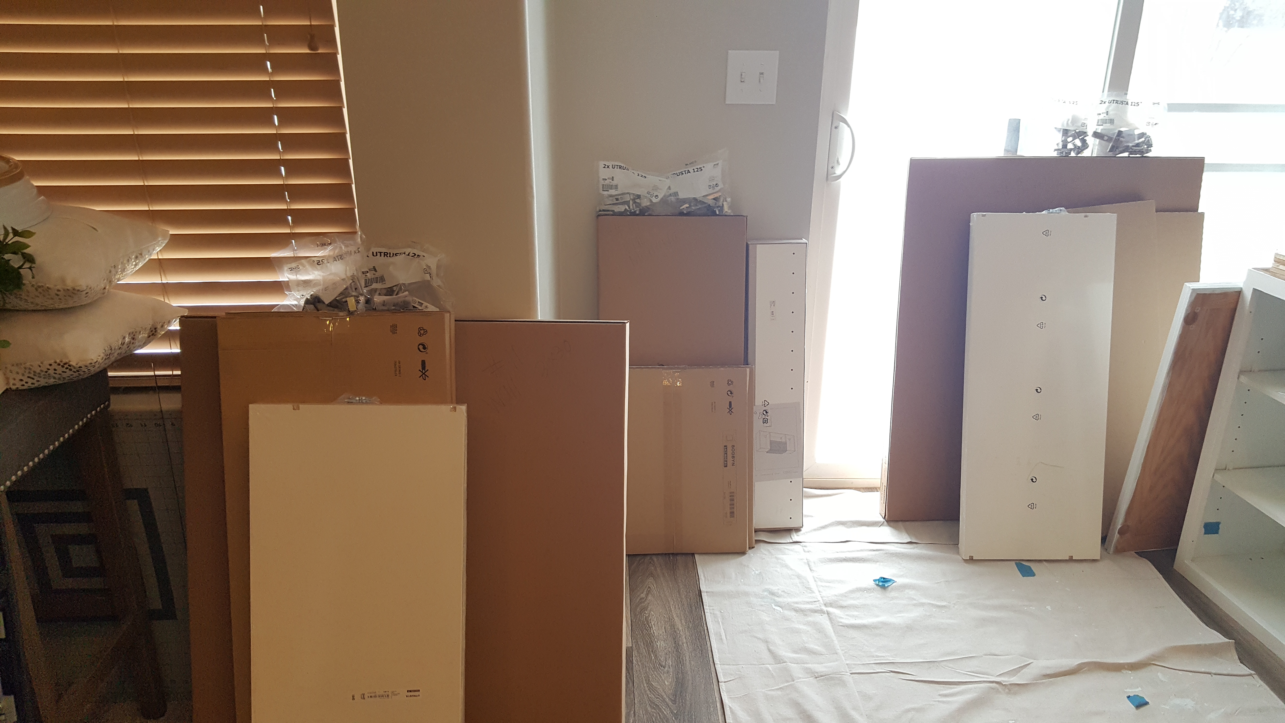 organize each ikea box for a smooth ikea kitchen remodel