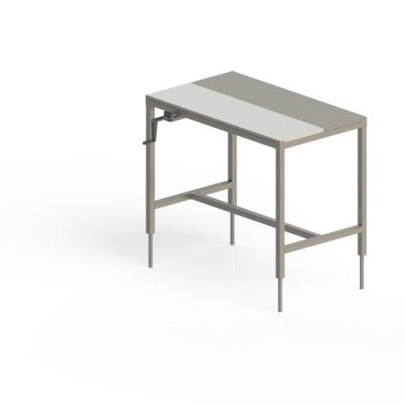 table inox de decoupe centrale mixte
