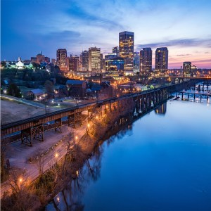 Richmond, Virginia Night Skyline