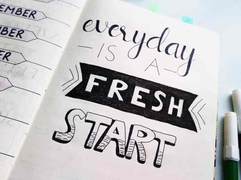 Don't give up if you slip. Everyday is a fresh start.