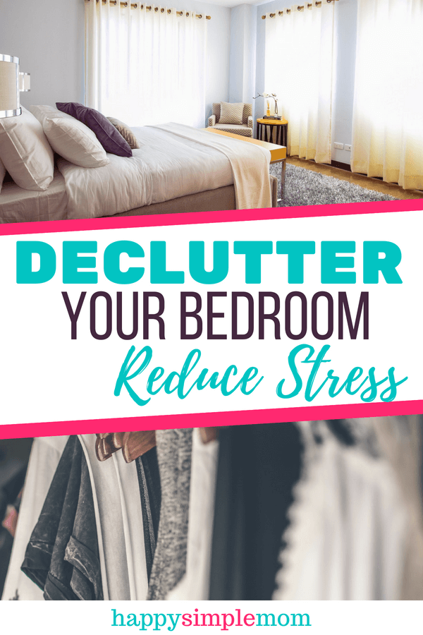 Declutter your bedroom