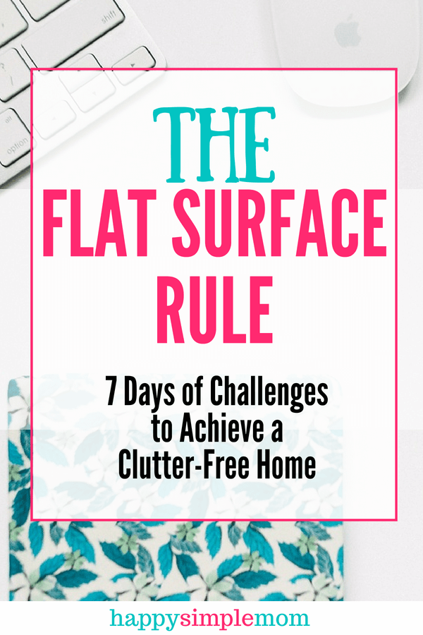 Use the flat surface clutter fix rule to stop counter clutter.