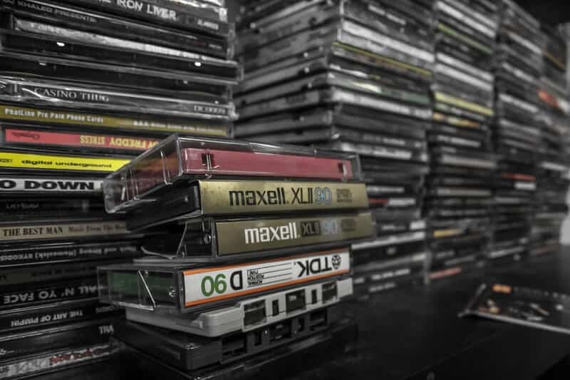 Declutter your DVDs and CDs.