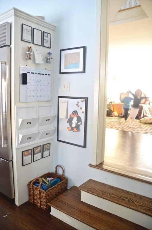 Family command center that works great in a small space.