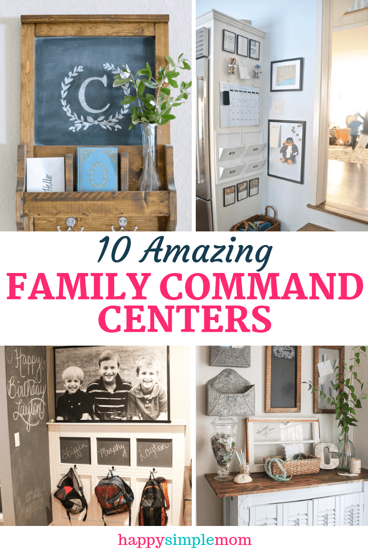A collection of ten amazing family command centers.