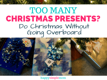 Worried you are giving too many Christmas presents?