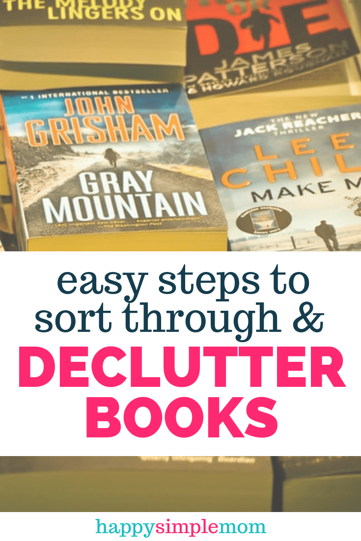 Declutter books in your home. How to work through the emotional attachment.