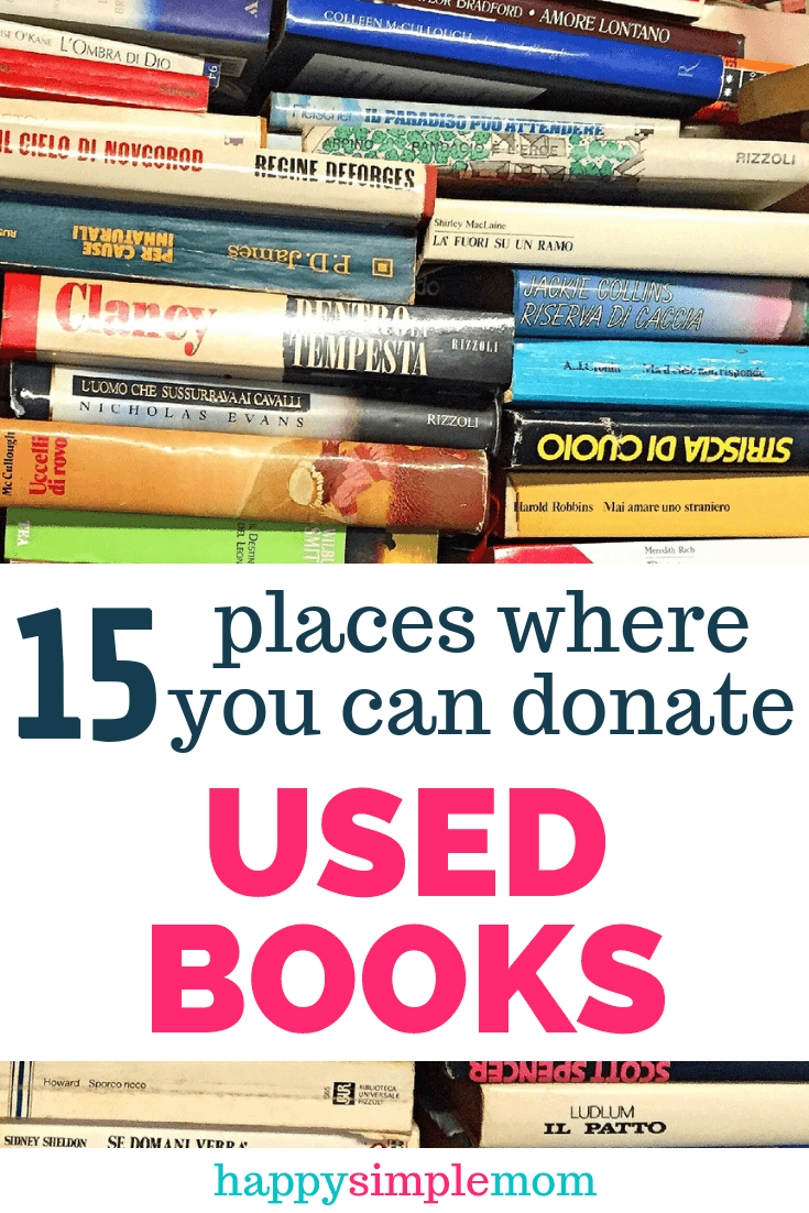 Places where to donate used books.