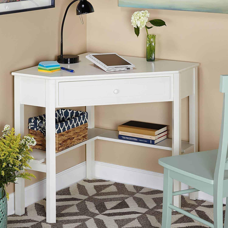 Small corner desk as a small office idea.