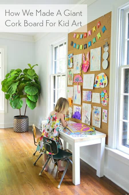 Cork board tutorial for your small home office.