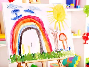 Painting done by a child.