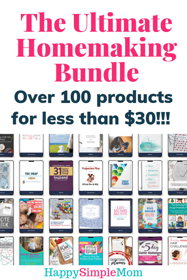 The Ultimate Homemaking Bundle includes over 100 products for less than $30!