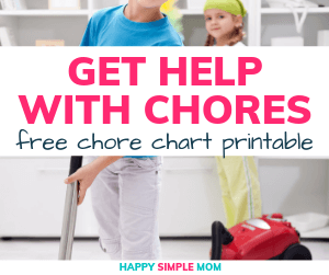 Get help with chores at home with the free chore chart printable.