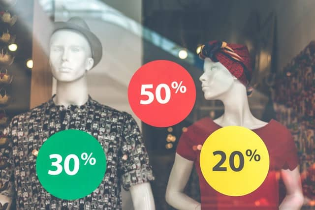 Sales window to encourage shopping