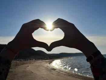 Heart Hand Sky