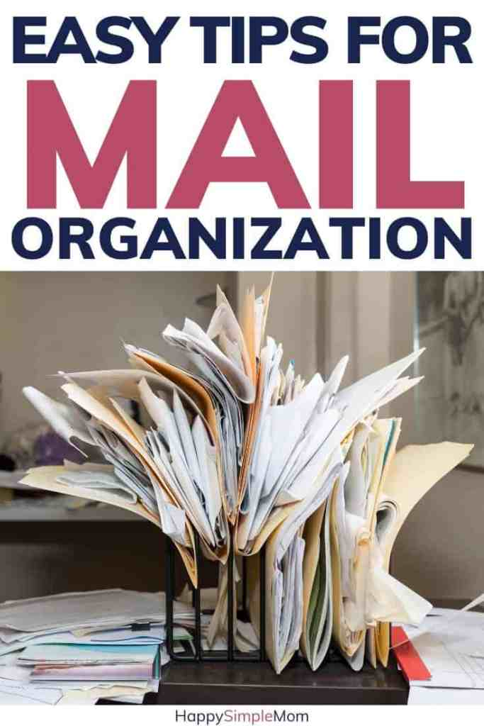 piles of mail crammed into folders