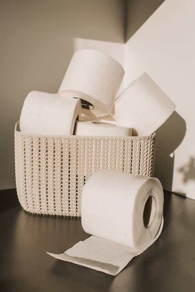 Toielt paper rolls. Stocking up on toilet paper isn't very minimalist, but neither is a pandemic!