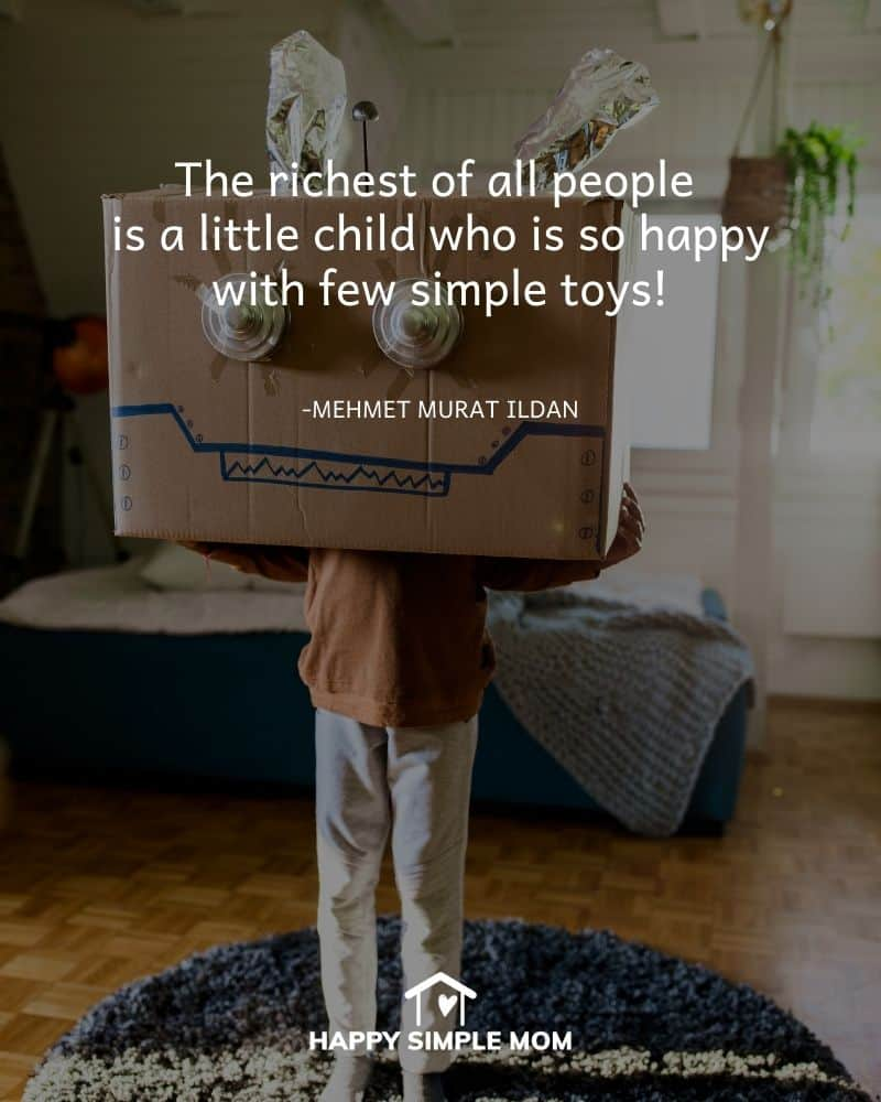The richest of all people is a little child who is so happy with few simple toys! Mehmet Murat Ildan