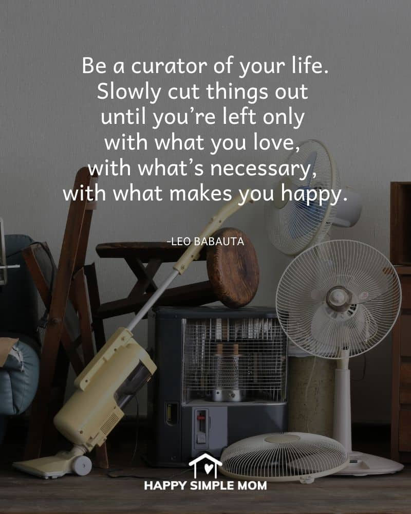 Be a curator of your life. Slowly cut things out until you're left only with what you love, with what's necessary, with what makes you happy. Leo Babauta
