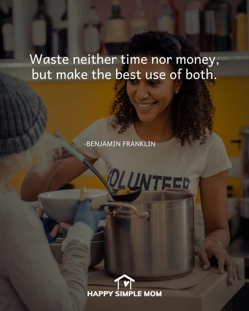 Waste neither time nor money, but make the best use of both. - Benjamin Franklin
