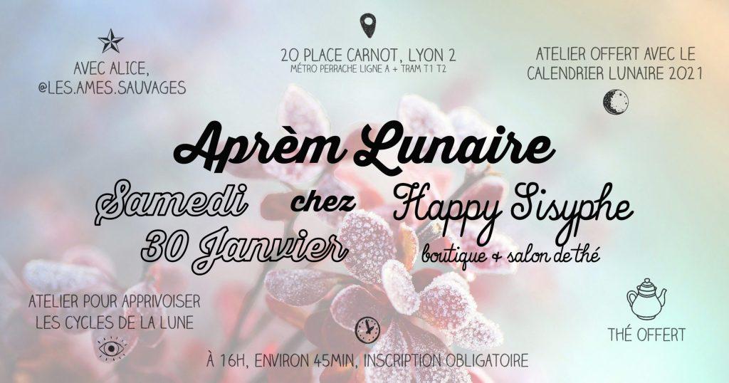 ☾ Aprèm Lunaire chez Happy Sisyphe avec Alice lyon astrologie lune cycle sorcière magie