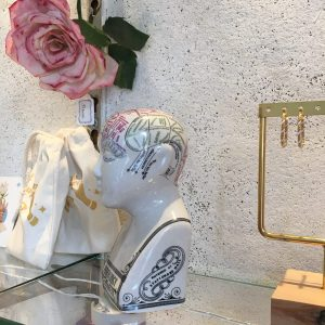 Tête phrenologique M.L.N. Fowler décoration Happy Sisyphe Boutique Lyon