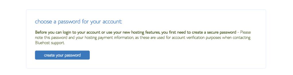 password for bluehost christian blog