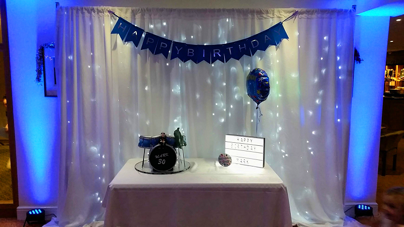 Feature Wall - Star-Lit Backdrop Happy Sounds Mobile Disco
