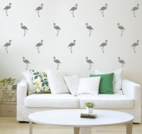 Pink Flamingos Wall Decal - Happy Stickers