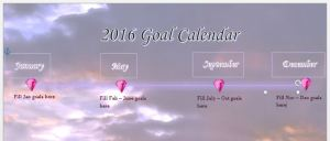 2016 Goal Calendar Template Happy Stylish Fit