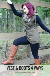 Pin now save for fall and winter. 4 ways to style vests and boots.