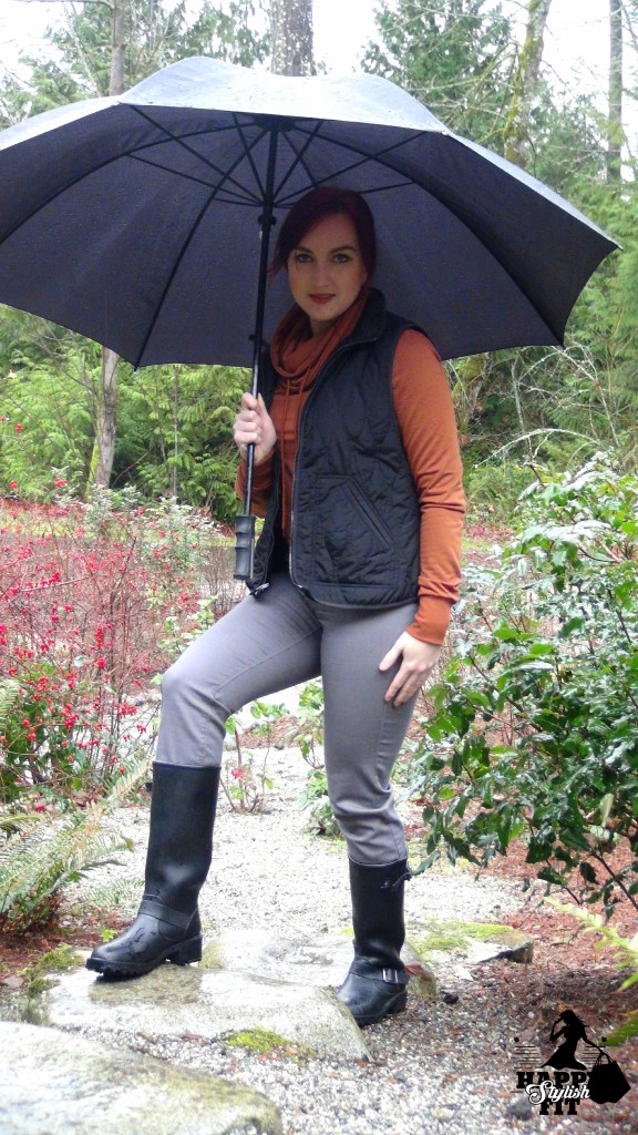 Vest and Boots 4 Ways Happy Stylish Fit Lifestyle Blog Orange Hoody Black Vest