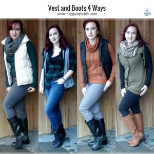 Vest and Boots 4 Ways Happy Stylish Fit Lifestyle Blog Square Social Media Icon