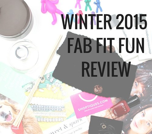 Find out what comes in a winter Fab Fit Fun box: Candlenut Body Creme by Juara, Wine Stopper and Charm Set by Fab Fit Fun, Travel Set from Dermalogica, Fingerless Gloves by Whitney eve and Fab Fit Fun, diffuser by EJH Brand, nail polish by Zoya, donna earbuds by Frends, Sweet and Spark gift card, and a Shoptiques gift card.