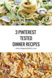 Great collection of 3 one pot meal Pinterest recipes. Curated by Happy Stylish Fit, featuring recipes from Skinny Taste, Julia's Album, and Damn Delicious.