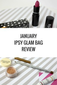 January Ipsy Glam Bag Review 2016 - Glacial Cleansing Wipes, Dirty Little Secret Lipstick, Marsk Mineral Eyeshadow, Mr Write Now eyeliner, and Hey Honey Eye Contour Liquid - Happy Stylish Fit