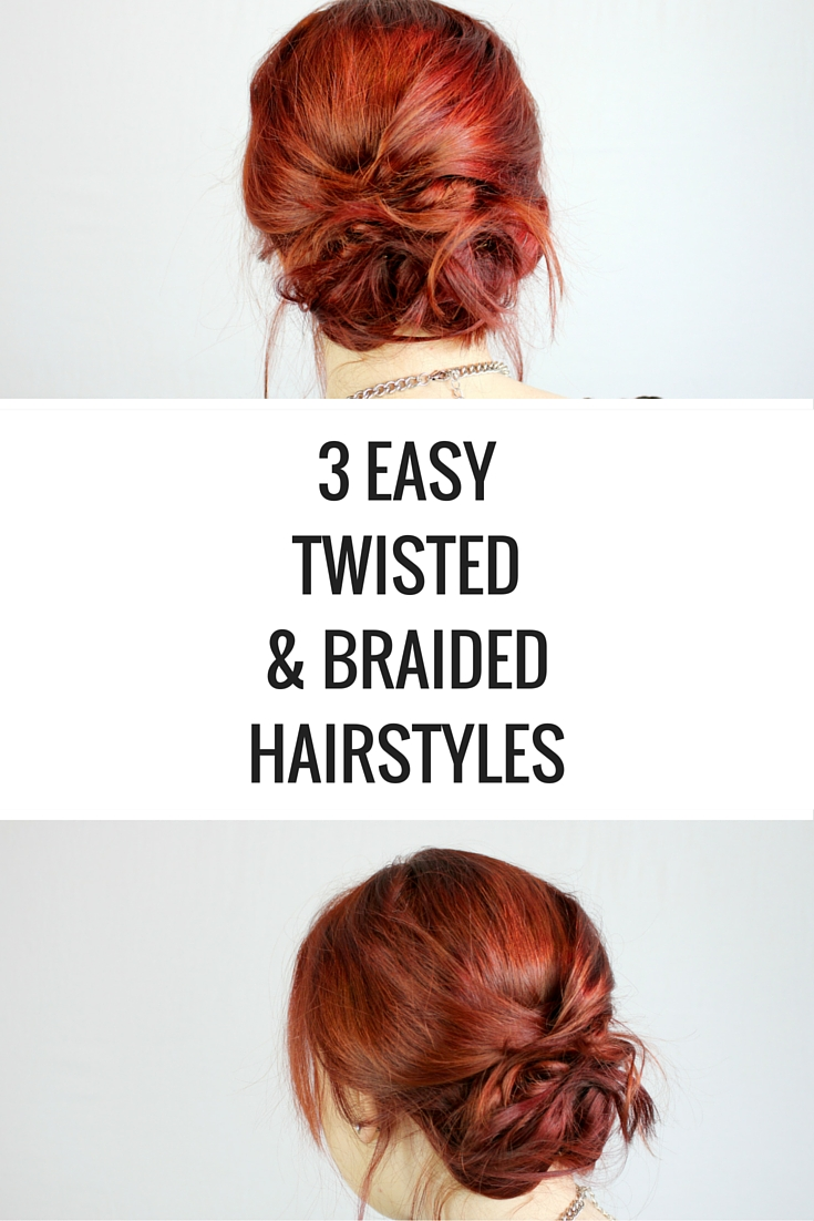 Twisted Or Braided Hairstyle 3 Ways Happy Stylish Fit