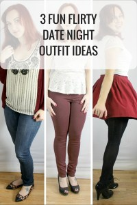 3 Fun Flirty Valentine's Day Outfit Ideas. Keep it casual with jeans, a dressy shirt, and leapord flats, or dress it up a little bit with a lace peplum, burgundy skinnies, and black pumps, or with a fun flirty skirt, with a white lace top, and heels. – Happy Stylish Fit