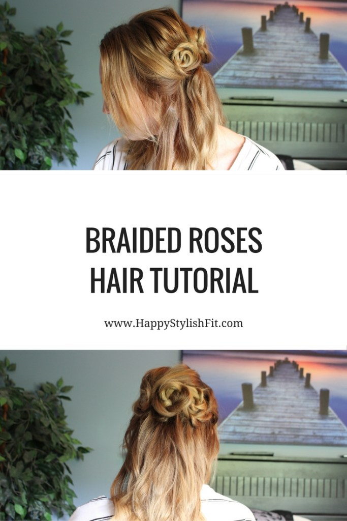 Beginner step by step tutorial for this cute half up braided roses hairstyle. Great to add some extra cuteness and femininity to any look.