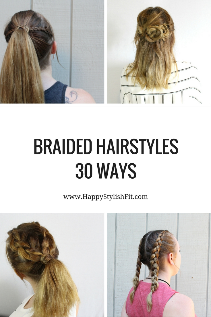 Need some hairstyle inspiration? Check out these 30 braided hairstyles for all skill levels and hair lengths with links to tutorials.