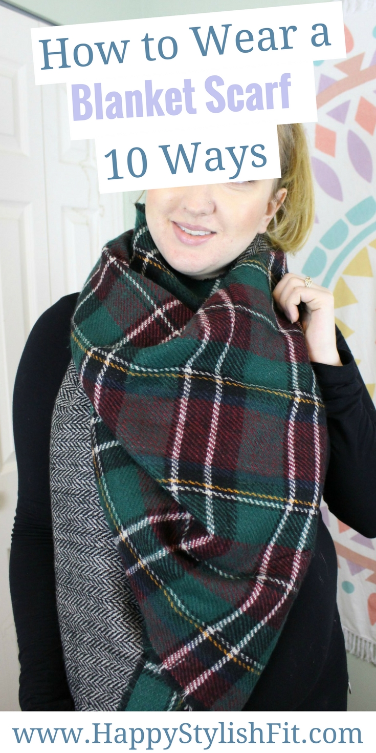 Watch the video tutorial: 10 ways to wear a blanket scarf.