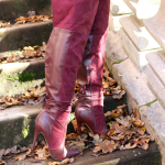 How to style a thigh high boots outfit for fall.