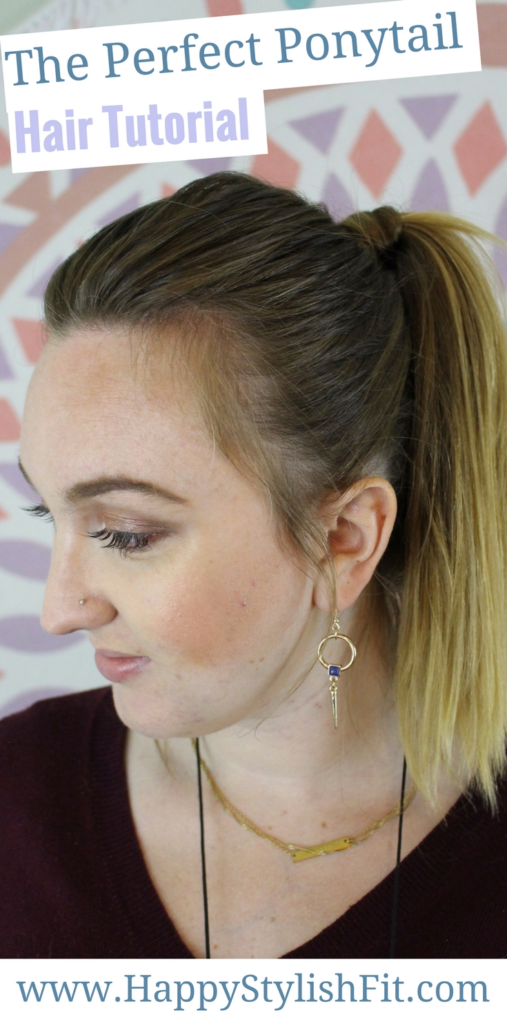 Check out this video tutorial for how to do the perfect ponytail.