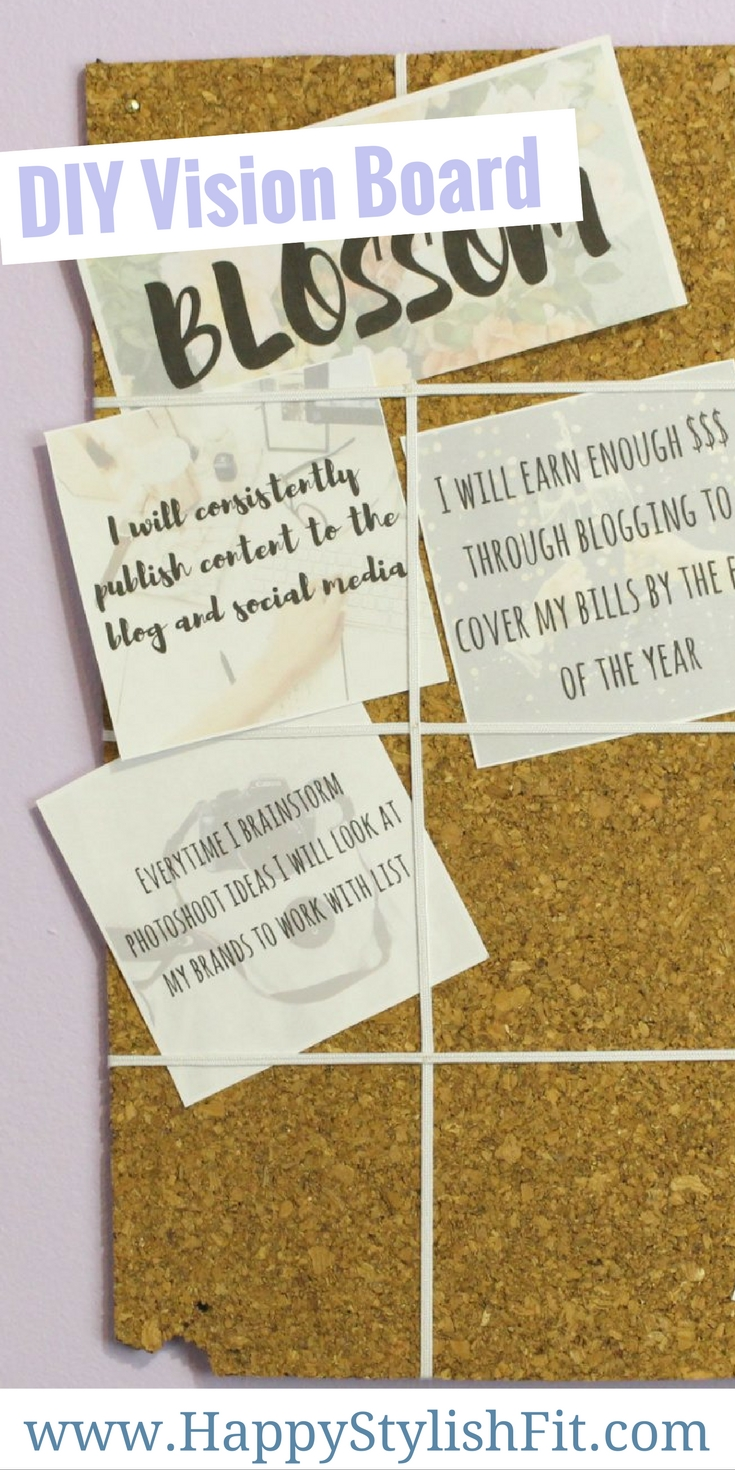How to make a simple DIY vision board to help you stay on track with your goals.