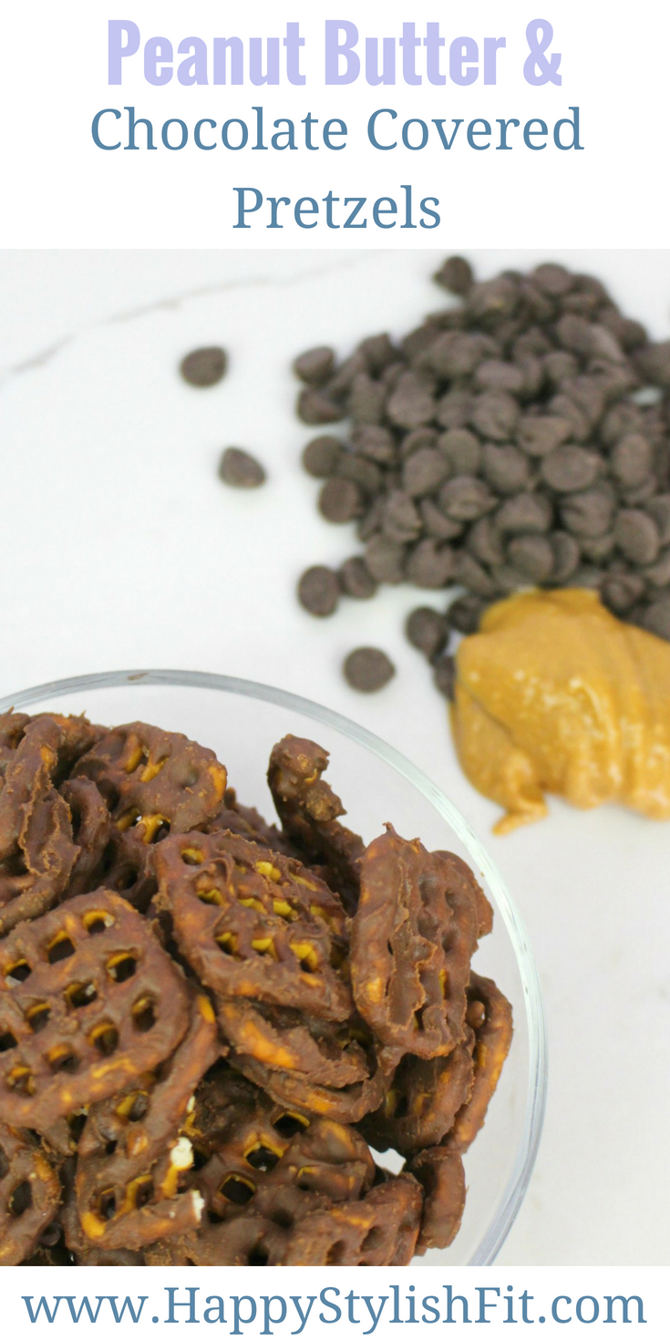 These tasty peanut butter chocolate covered pretzels make for a great vegan snack that is a quick and easy recipe.