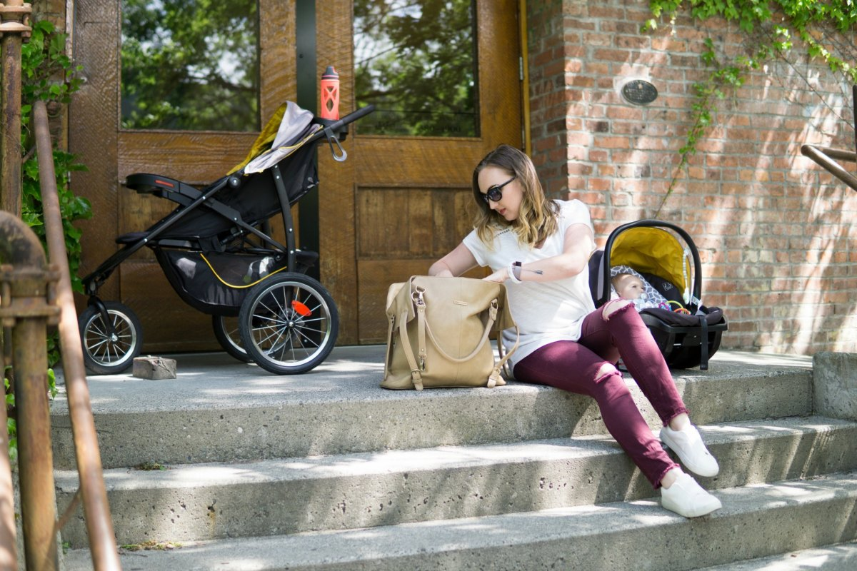 What to pack in your diaper bag for a day trip with the baby.