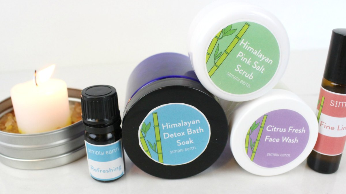 The Simply Earth August Box included 4 essential oils that created these 6 DIY spa products.