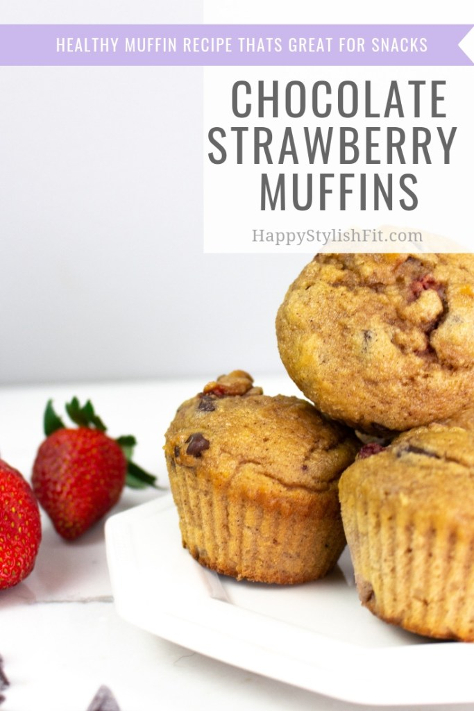 Super tasty chocolate chip strawberry muffins. This healthy muffin recipe is great for the whole family.