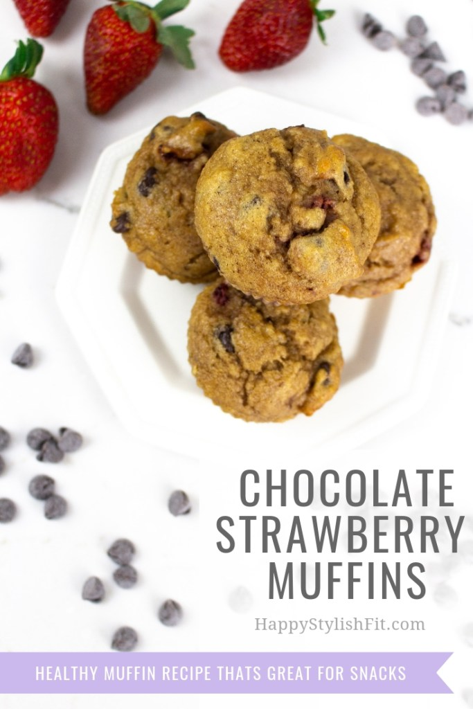 Chocolate strawberry muffins. This healthy muffin recipe is perfect for snacks.